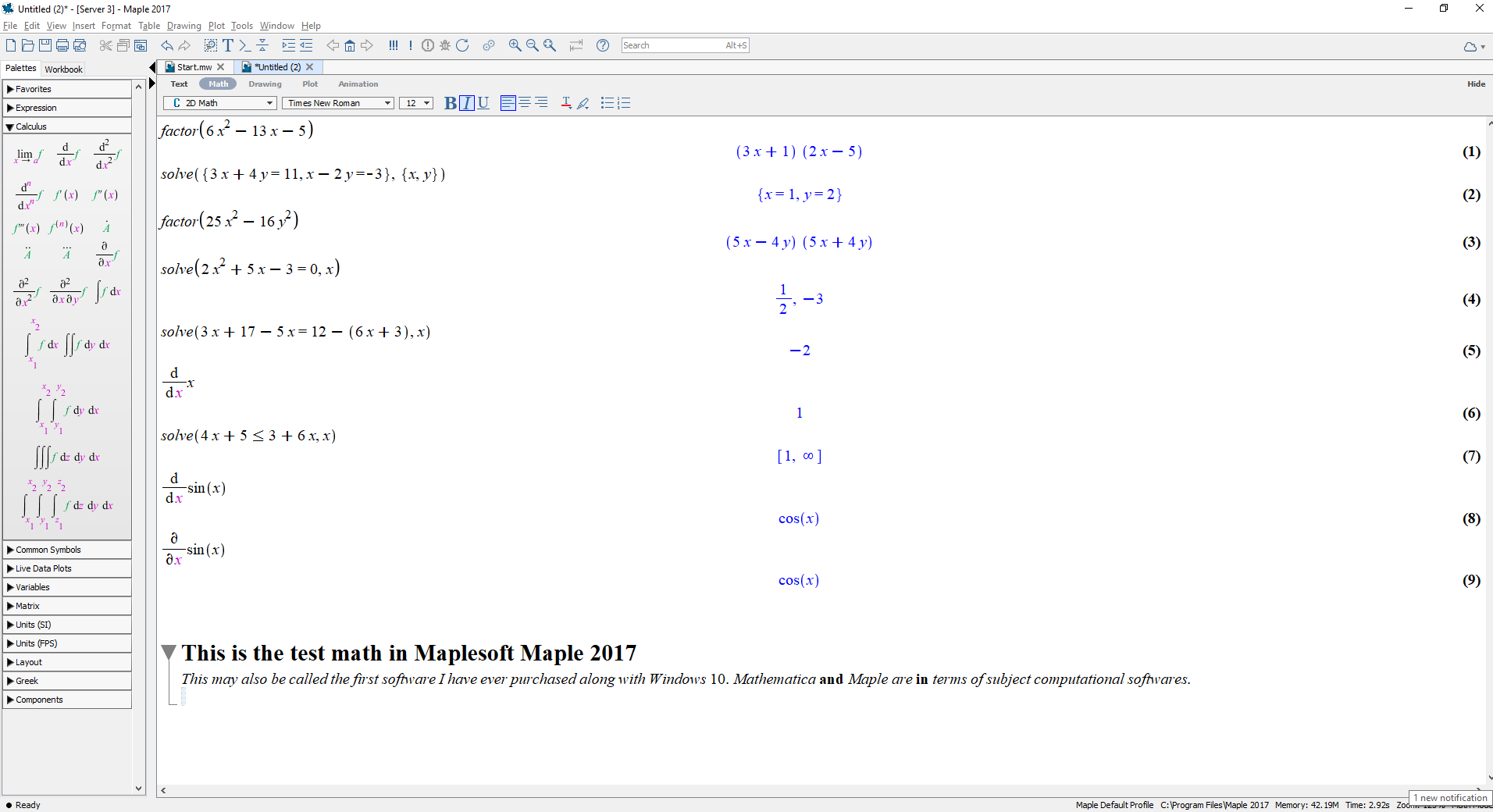 Maple 2017 formatting issues ? - MaplePrimes
